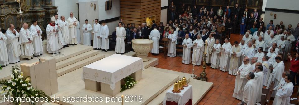 Nomeações de sacerdotes para 2015