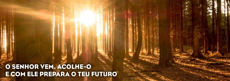 O SENHOR VEM. ACOLHE-O E COM ELE PREPARA O TEU FUTURO