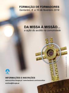 """""""Da Missa à Missão: a ação do acólito na comunidade"""" - Formação de formadores de Acólitos @ Seminário de Santarém"""