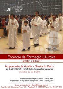 Encontro de Formação Litúrgica para acólitos e leitores dos arciprestados de Anadia e Oliveira do Bairro @ Salão Paroquial de Sangalhos