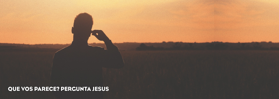 QUE VOS PARECE? PERGUNTA JESUS
