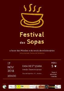 Festivas das Sopas - a favor das Missões e do envio de missionários @ Casa de Santa Joana - Irmãs Dominicanas | Aveiro | Aveiro | Portugal