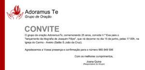 Grupo de Oração Adoramus Te - 25 anos @ Igreja do Carmo de Aveiro